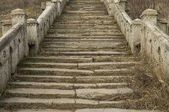 Beautiful old natural stone stairs. Stock Photos