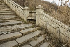 Beautiful old natural stone stairs. Stock image Royalty Free Stock Images