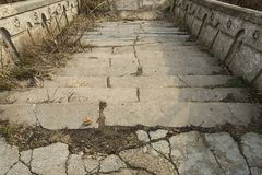 Beautiful old natural stone stairs. Royalty Free Stock Images
