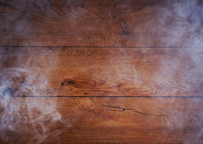 A beautiful old oak wood background with smoke Royalty Free Stock Photos