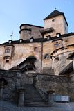 The beautiful old Orava Castle. In Slovakia royalty free stock photo