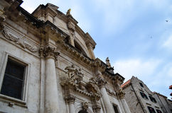 Beautiful old palace on the main walking street in the old town of Dubrovnik Stock Photo