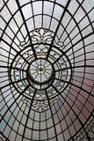 Beautiful old pattern in the glass Royalty Free Stock Images