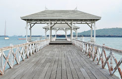 Beautiful old pavilion on Sichang island at chonburi province,Th Royalty Free Stock Image