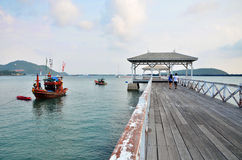 Beautiful old pavilion on Sichang island at chonburi province,Th Royalty Free Stock Photos