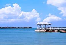 Beautiful old pavilion on Sichang island at sriracha ampor ,chon Stock Photography