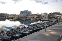 The beautiful Old Port Limassol in Cyprus royalty free stock photo