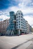 Beautiful old Prague. PRAGUE, CZECH REPUBLIC - MAY 8, 2015: `Dancing House` Deconstructivist original administrative office building near the northern limits of Stock Photos