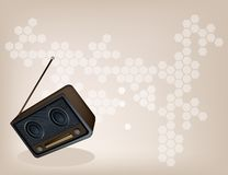 A Beautiful Old Radio on Brown Background Stock Images