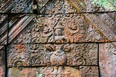 Free Beautiful Old Reliefs Of Ancient Complex Koh Ker, Cambodia Royalty Free Stock Images - 118901309