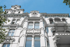 Beautiful old residential building facade Stock Images