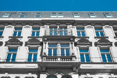 Beautiful old residential building facade. Exterior Royalty Free Stock Images