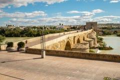 Beautiful old roman bridge in Cordoba, Spain stock photos