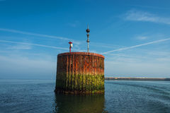 Beautiful old rusty dock at Helgoland island in north sea, Germa Stock Image