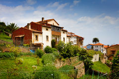 Beautiful Old Spanish Cottages Royalty Free Stock Photos