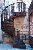 Beautiful old spiral staircase Stock Images