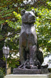 Beautiful old statue of lion in cultural heart of Odessa Royalty Free Stock Photography