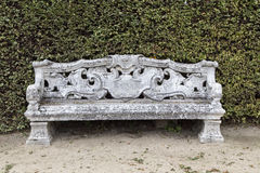 Beautiful old stone bench Stock Photo