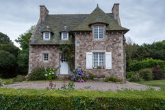 Beautiful old stone house. In Britanny, France Stock Image
