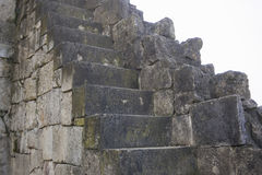 Beautiful old stone stairs natural dark stone diabase with stone steps Stock Photos