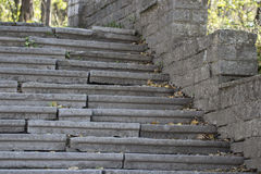 Beautiful old stone stairs natural dark stone diabase with stone Royalty Free Stock Photos