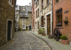 Beautiful old street in Germany Royalty Free Stock Photo
