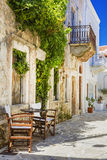 Beautiful old streets of Greece. Naxos island Stock Images