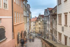beautiful old streets of Prague. Royalty Free Stock Photos