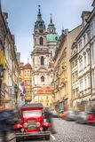 beautiful old streets of Prague. Stock Photo
