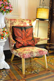 Beautiful old style armchair and lamp. Royalty Free Stock Photos