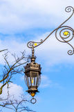 Beautiful old style street lamp at the Cloth Hall in Cracow, Poland Stock Image