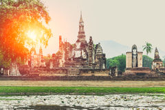 Beautiful old temple at Sukhothai Historical Park Royalty Free Stock Photography