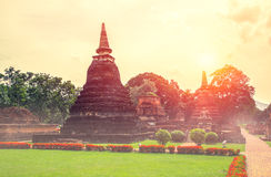 Beautiful old temple at Sukhothai Historical Park Stock Photography