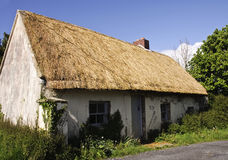Beautiful old thatched cottage. In the west of ireland Royalty Free Stock Photography