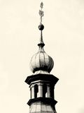 Beautiful old tower castle crenellation, nostalgic Royalty Free Stock Images