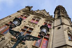 Beautiful Old town Bruges. Belgian architecture in Brugge Royalty Free Stock Images