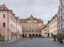 Beautiful old town, Gorlitz, East Germany stock image