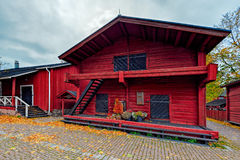 Beautiful Old town with historic wooden houses in Loviisa, Finla Royalty Free Stock Photography