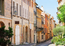 Beautiful old town of Provence Stock Photography