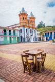 Beautiful Old town replica, Guatape, Colombia. Beautiful Penol old town replica of the main street in old Guatape before it was inundated, Colombia stock photography