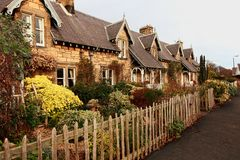 Beautiful, old, traditional Scottish houses Stock Images
