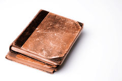 Beautiful old two books closeup on white background Royalty Free Stock Image