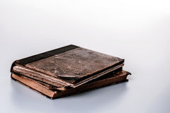 Beautiful old two books closeup on white background Royalty Free Stock Photography