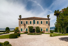 Beautiful old villa of Lake Garda in Italy Royalty Free Stock Photos
