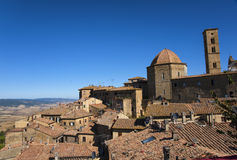 Beautiful old Volterra - medieval town of Tuscany stock photos