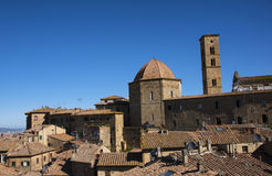 Beautiful old Volterra - medieval town of Tuscany stock images
