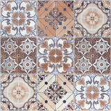 Beautiful old wall ceramic tiles patterns handcraft from thailan. D public Stock Photography