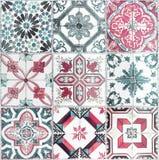 Beautiful old wall ceramic tiles patterns handcraft from thailan. The Beautiful old wall ceramic tiles patterns handcraft from thailand public Royalty Free Stock Image