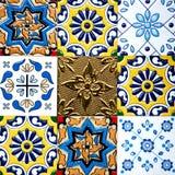 Beautiful old wall ceramic tiles patterns handcraft from thailand public. Beautiful old wall ceramic tiles patterns handcraft from thailand public Stock Image