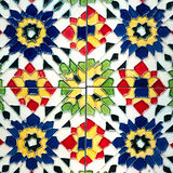 Beautiful old wall ceramic tiles patterns handcraft from thailand public. Stock Photos